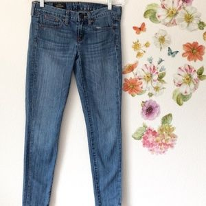 J.Crew Toothpick Skinny Ankle Jeans Size 24